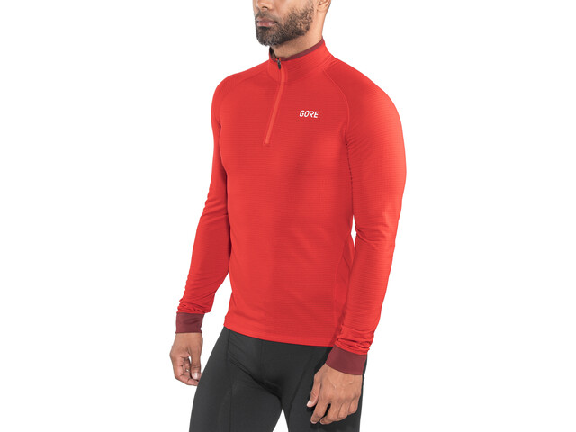 GORE WEAR Light Thermo Shirt Herrer, red/chestnut red